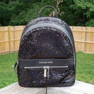 Michael Kors Kenly MD Backpack Black